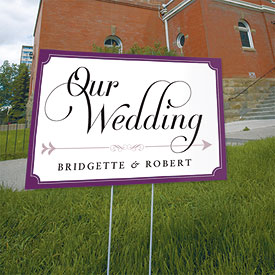 Expressions Wedding Reception and Ceremony Directional Road Signs