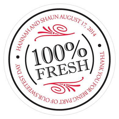 Image of 100% Fresh Small Sticker