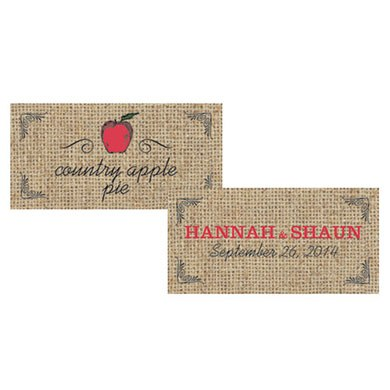 Fruit Themed Small Rectangular Wedding Favor Tags