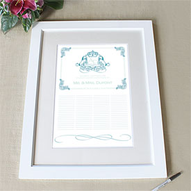 Coat of Arms Personalized Signature Wedding Certificate
