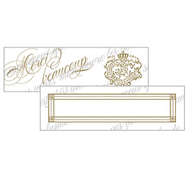 Parisian Love Letter Wedding Small Rectangular Tag