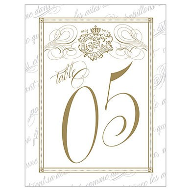 Parisian Love Letter Wedding Table Number
