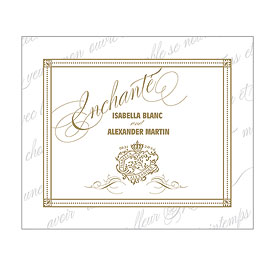 Parisian Love Letter Wedding Rectangular Label
