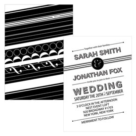 Black White Wedding Invitation
