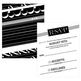 Black White Wedding RSVP