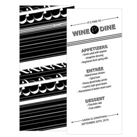 Black White Wedding Menu