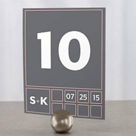 Times Square Wedding Table Number