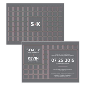 Times Square Wedding Invitation