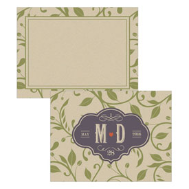 Vineyard Wedding Note Card