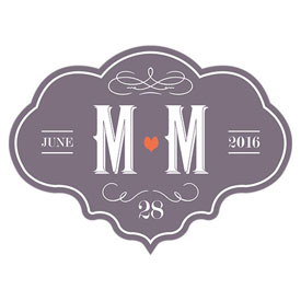 Vineyard Wedding Die-Cut Sticker