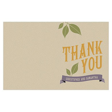Vineyard Wedding Thank You Card