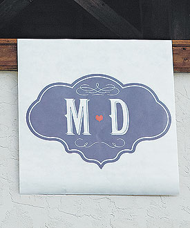 Vineyard Monogram Personalized Large Format Sign