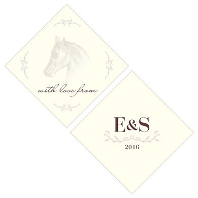 Equestrian Love Wedding Square Tag