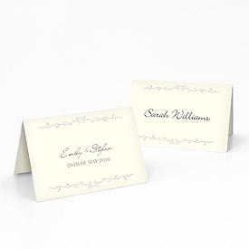 Equestrian Love Wedding Place Card With Fold