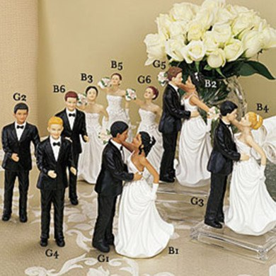 Brides & Groom Wedding Cake Toppers