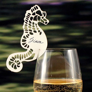 Laser Cut Seahorse Wedding Cards