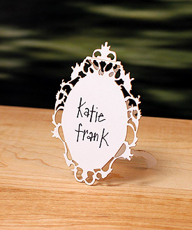 Laser Cut Oval Baroque Frame Wedding Sign