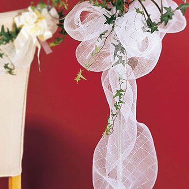 Specialty Sinamay Wedding Decoration Mesh Roll