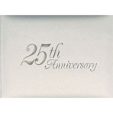 25th Wedding Anniversary Guest Book