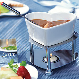 Heart Shaped Wedding Fondue Set