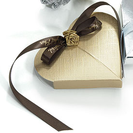 Gold Wedding Favor Boxes