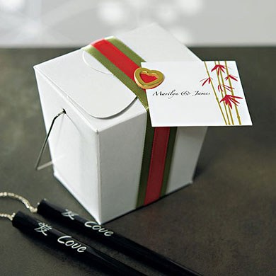 Asian Favor and Place Cards