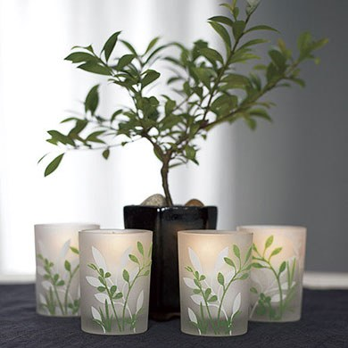 Botanical Garden Votive Wedding Favor Candle Holders
