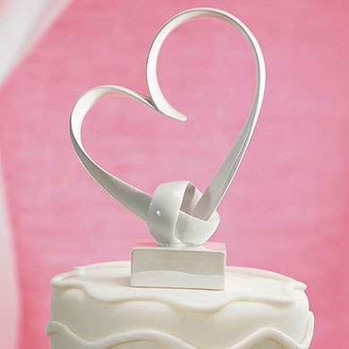 My Love Stylized Heart Wedding Cake Topper