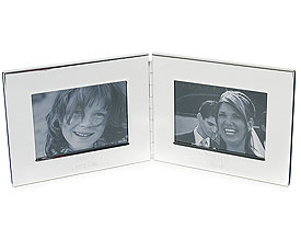 Silver Plated Double Photo Frame Wedding Gift