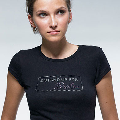 I Stand Up for Brides Wedding Iron on Accessory