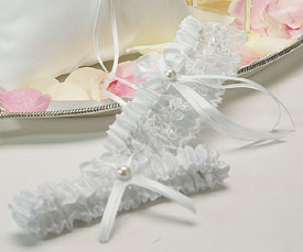 Sweet Art Two Piece Bridal Garter Set