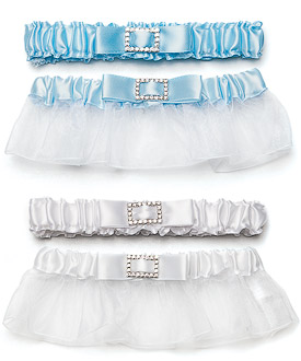 Classic Wedding Garters with Buckle