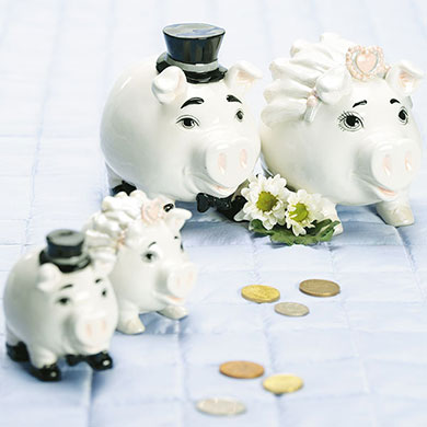 wedding favour piggy bank gift