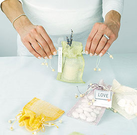 Sinamay Mesh Drawstring Wedding Favor Pouches
