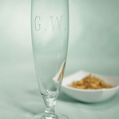 Footed Pilsner Glass Wedding Gift