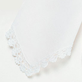 Crocheted Border Wedding Handkerchiefs
