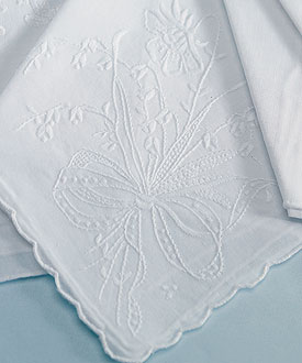 floral bridal handkerchief accessories