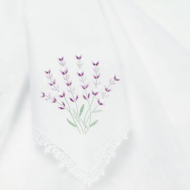 Stems of Lavender Bridal Handkerchief Accessory
