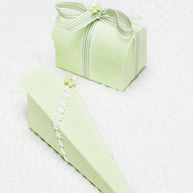 Green Wedding Favor Boxes
