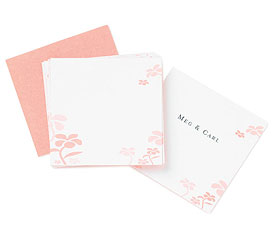 Floral in Pink Wedding Reception Favor and Place Cards