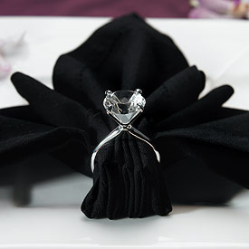 Silver Plated Diamond Wedding Reception Napkin Holders