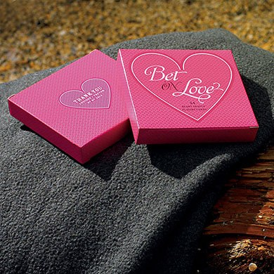 Bet on Love Heart Shaped Playing Cards Wedding Favor