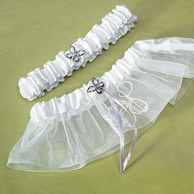 Butterfly Dreams Bridal Toss Wedding Garter Set