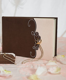 Romantic Vintage Western Traditional Wedding Guest Book