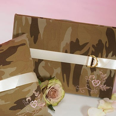 Camouflage Traditional Wedding Reception Guest Book