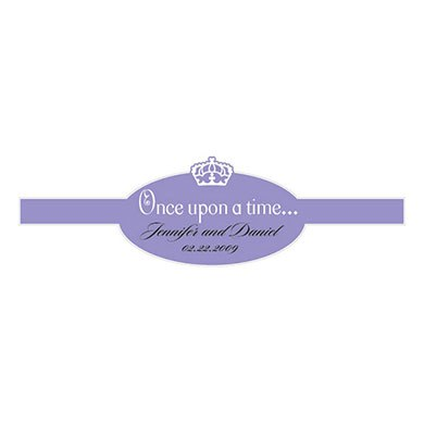 Once Upon a Time Wedding Favor Stickers