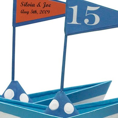 Boat Flag Wedding Favor Stickers