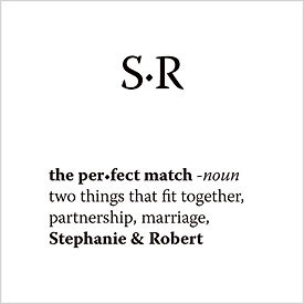 The Perfect Match Dictionary Favor and Gift Cards