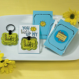 You Light Up my Life Mini Flash Light Key chain Wedding Favor with Gift Packaging