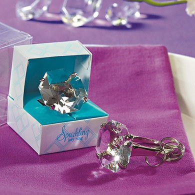 Novelty Diamond Key Chain Wedding Favor in Gift Favor Box